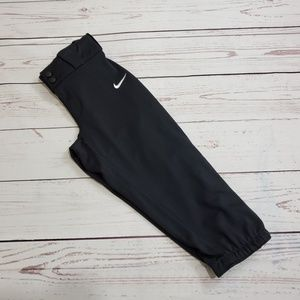 Nike Dri Fit Softball Pants Black Stretch Size S